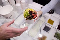 Jessica Gilmartin serves at Fraiche Yogurt