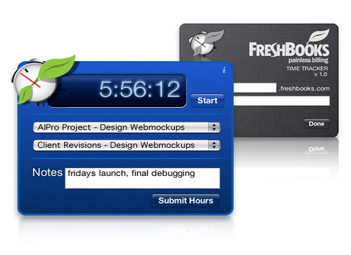Freshbooks Mac Widget