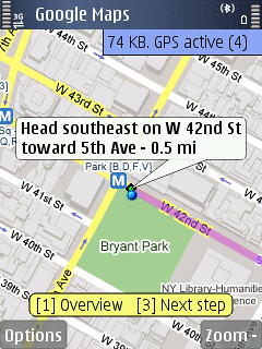 Google Maps on the N95