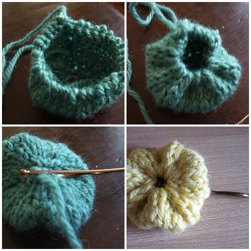 Knitted yo-yo tutorial.