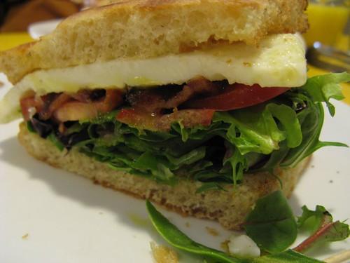 an awesome breakfast sandwich