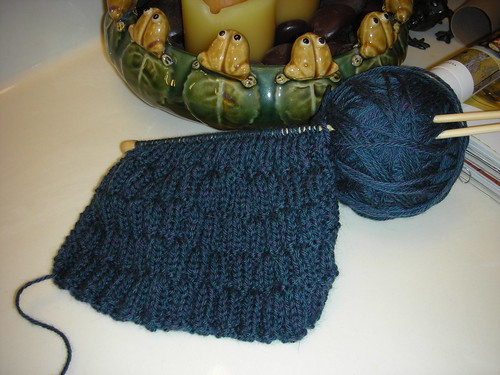 Knit project #3 - basketweave