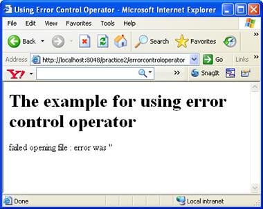 error control operator