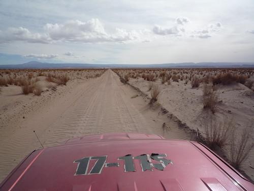 pilotando por el desierto