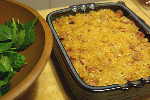 cassoulet and salad