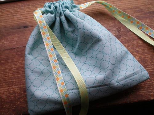 sock knitting bag