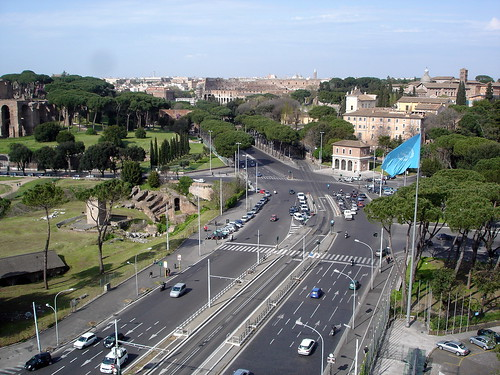 Circus Maximus and Colosseum from the FAO headquarters in Rome