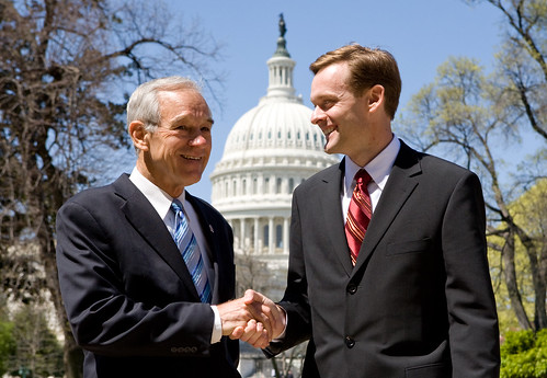 Ron Paul and BJ Lawson protecting the dollar