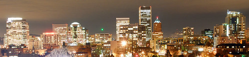 PDX Skyline at night
