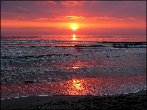 sunrise baltic sea