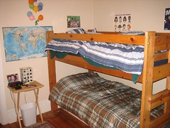 New Bunk Bed, with sheets