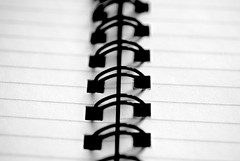 Black and White Spiral-Bound Notebook