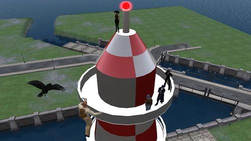 Atop the mast