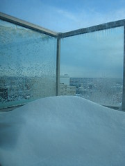 Snow on my balcony after the snow storm.