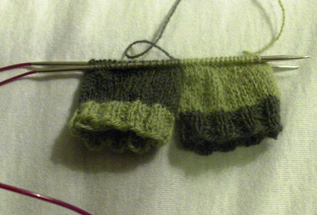 baby mittens WIP