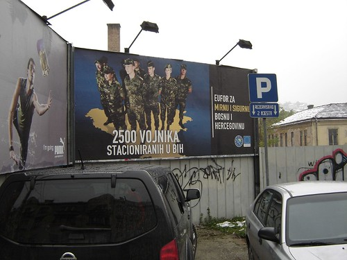 Reclama in Sarajevo la cei 2500 de soldati straini