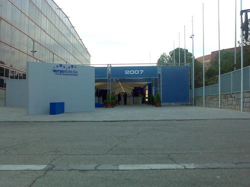 La entrada del Madrid Arena todavía estaba tranquila