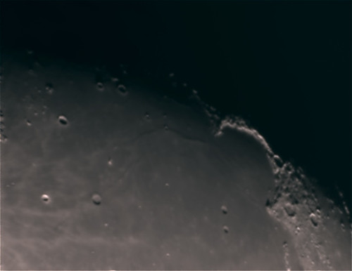 Mare Imbrium and Sinus Iridum on 2/17/08