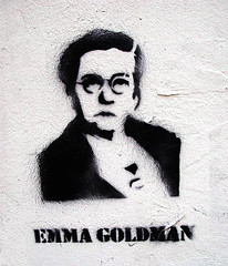 Emma Goldman stencil [Lyon, France]