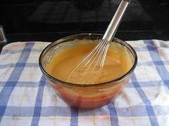 Pumpkin filling for pumpkin-chocolate tart
