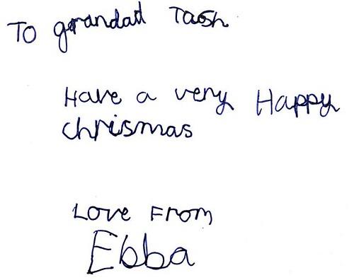 To Grandad Tash - Ebba Drawing 1