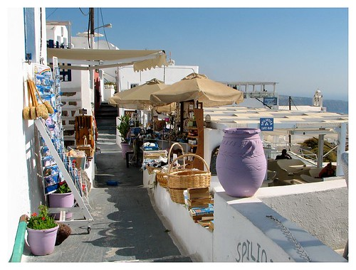 One of many shops in Santorini by you.