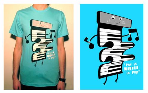 Pop is Modern Pop T-Shirt / Partikulegrafik