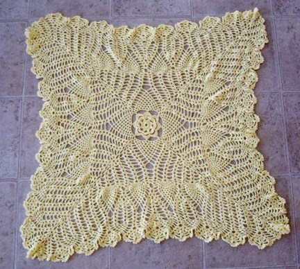 Finished lacy baby blanket 2