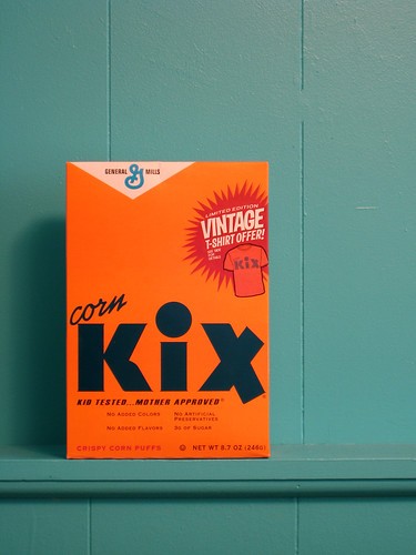 Box of Kix Cereal