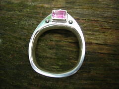 My hollow ring - pink side