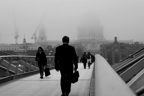 January - A foggy Millenium Bridge