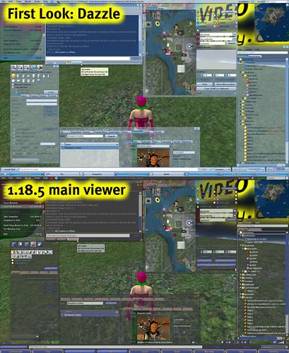 Dazzle / main viewer comparison
