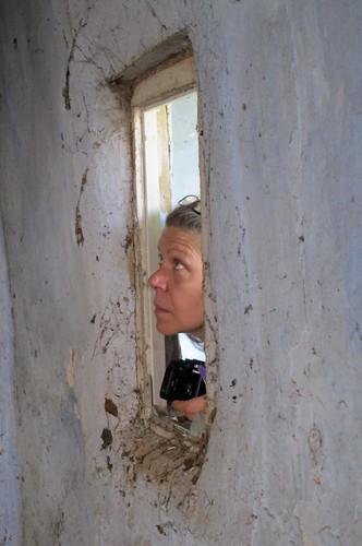 Sandra at window