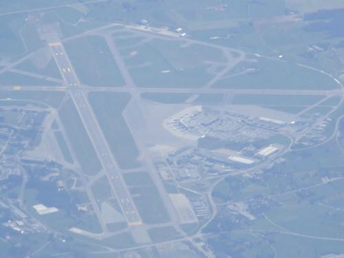 Luftfoto av Stavanger Lufthavn Sola.
