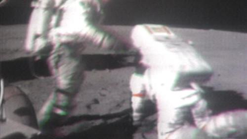 Astronaut falling down