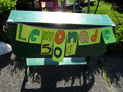 Lemonade 50 cents
