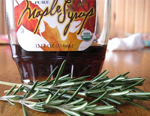 maple syrup and rosemary