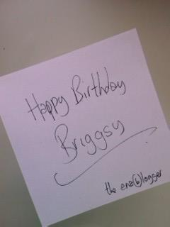 Birthday greeting from Paul