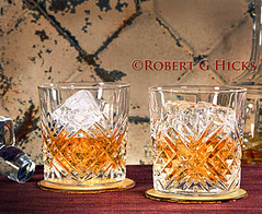 Two Glasses of Whiskey on Ice