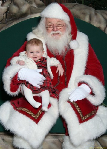 Claire with Santa