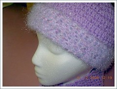 purple hat close up