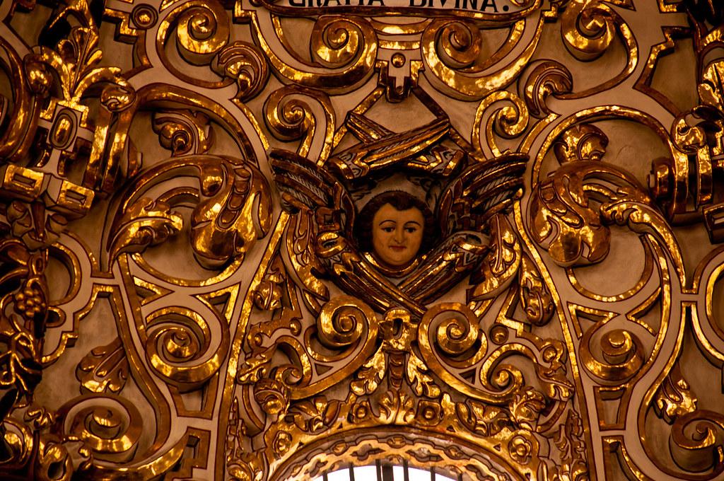 Detail of dome, Capilla del Rosario, Puebla
