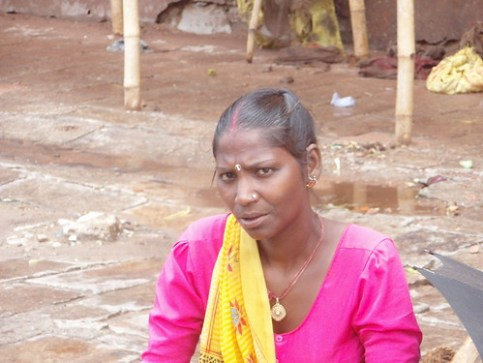 Vendedora en los bazares de Jaipur