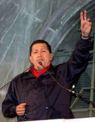 Hugo Chavez in visita a Milano
