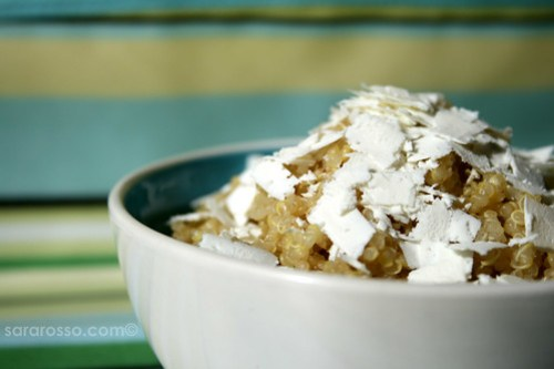 Quinoa and Salted Ricotta for LiveStrong with a Taste of Yellow