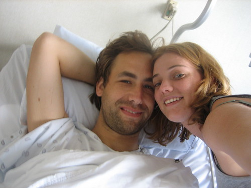 happy in the hospital