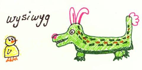 It's a wysiwyg Easter!