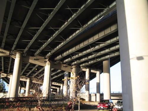 Underside of I-5