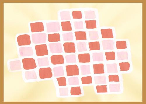 Pink Mod Squares