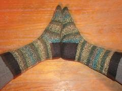 Neon Madness Socks - side view
